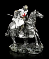 White Crusader Figurines on Horse - Set of 2