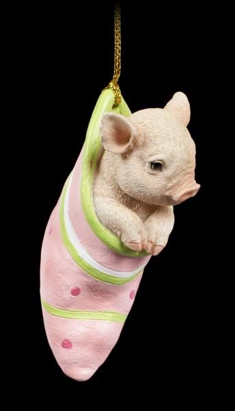 Piglet Figurine in Sock