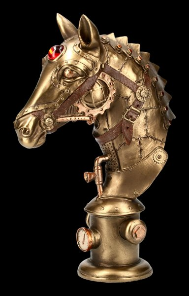 Steampunk Pferde Büste - Equus Machina