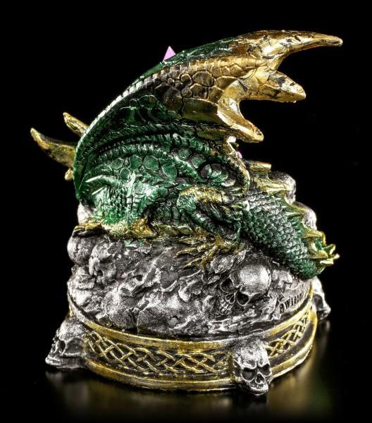 Dragon Figurine with LED Lighting - The Crystal Guardian - green