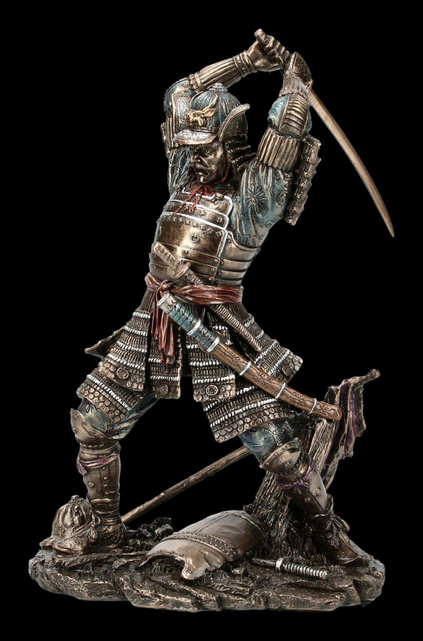 Samurai Warrior Figurine with Sword and Armor