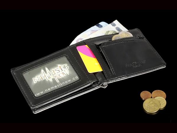 Herren Geldbörse mit Totenkopf - Memento Mori