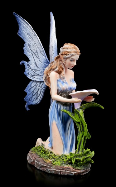 Fairy Figurine - Bleu with Flower