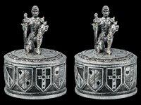 Knight Box Set of 2 - silver colored