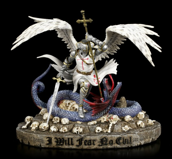 St. George Figurine with Dragon - Psalm 23 - colored