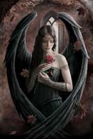 Fantasy Greeting Card Gothic Angel - Angel Rose