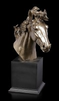 Large Horse Head Bust - bronzed