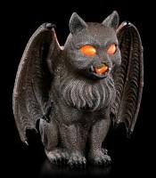Teelichthalter - Fantasy Katze mit Flügeln
