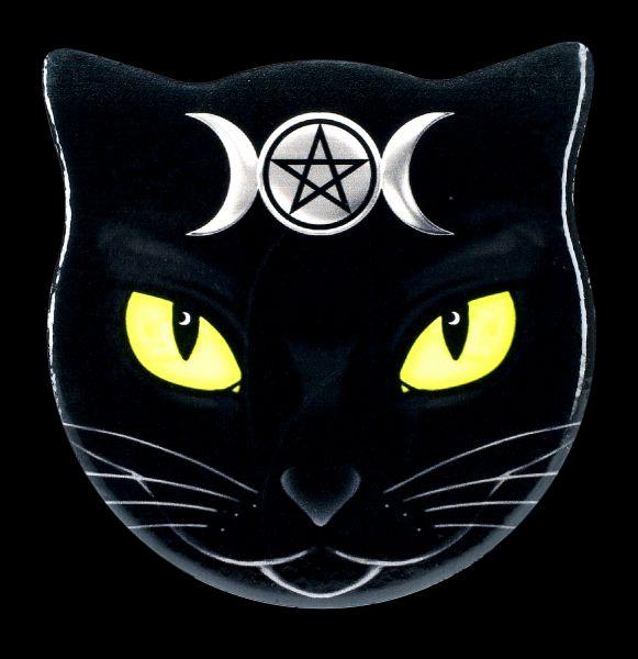 Alchemy Coaster Cat Head - Triple Moon Cat