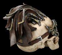Steampunk Totenkopf - Dreadlock Device - groß