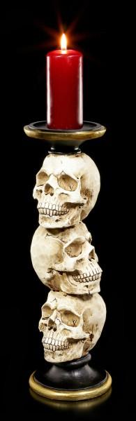 Kerzenhalter - Totenkopf Säule