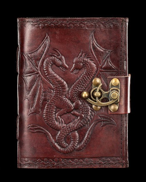 Leather Journal with Lock - Double Dragon