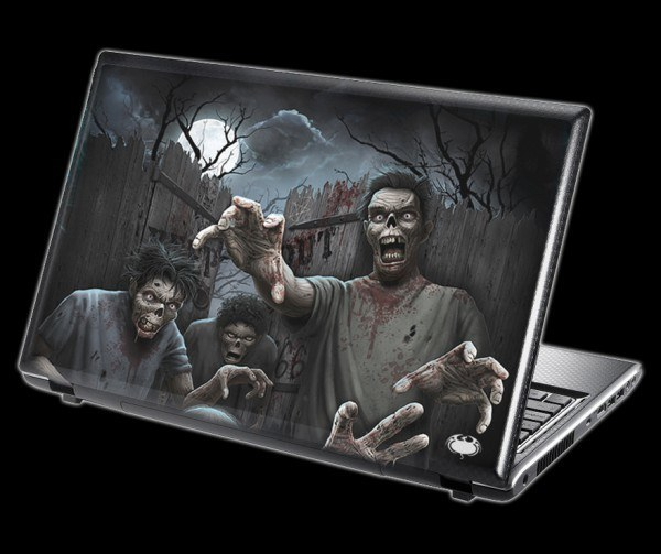 Fantasy Laptop Skin - Zombies Unleashed