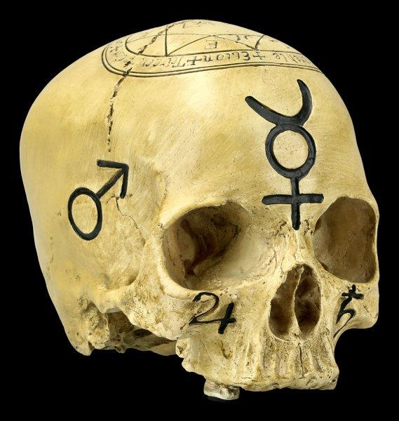 Totenkopf Witchcraft Skull