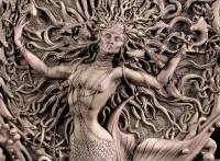 Wall Plaque - Celtic Mermaind Goddess Aine - Matt