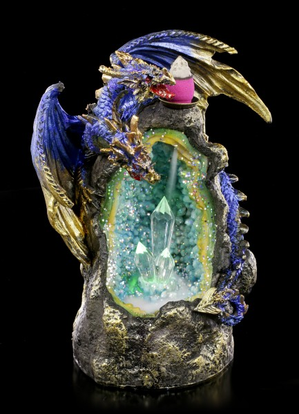 Backflow Incense Cone Holder LED - Azure Geode