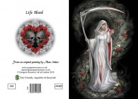 Gothic Greeting Card - Life Blood