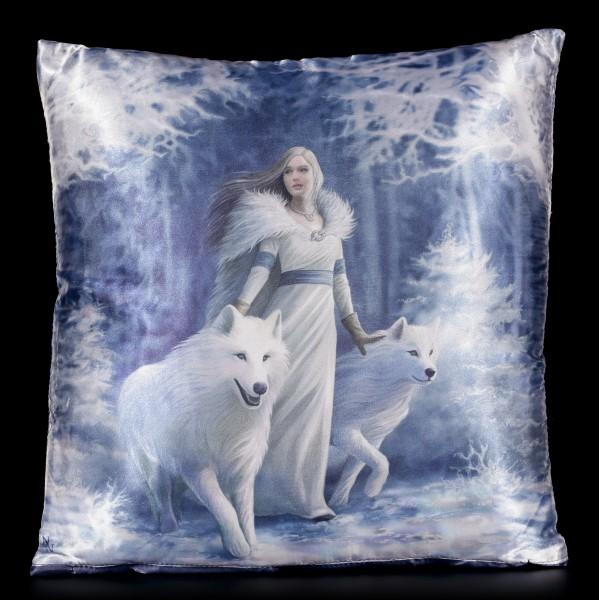 Kissen mit Wölfen - Winter Guardians