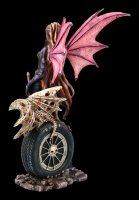 Elfen Figur - Naira mit Skelett Drache