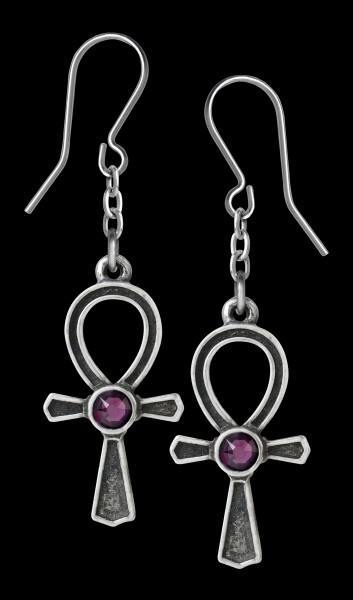 Alchemy Gothic Earrings - Ankh Of Osiris