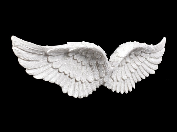 Wandrelief - Engelsflügel mit Glitter