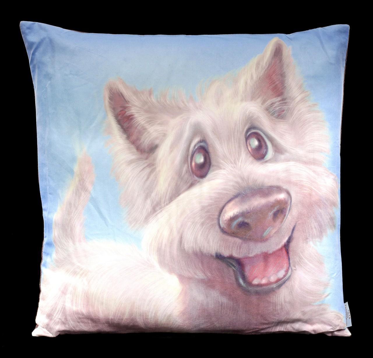 Kissen mit Hund - West Highland Terrier
