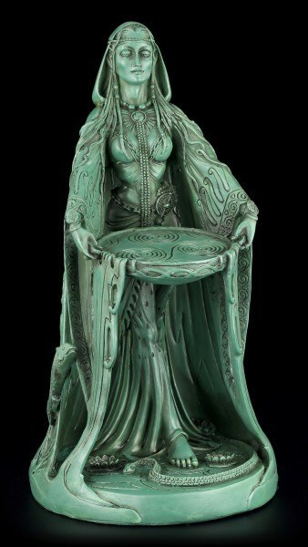 Danu Figur - Keltische Mutter Göttin - Grün