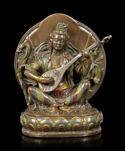 Buddha Figur - Sarasvati mit Vina