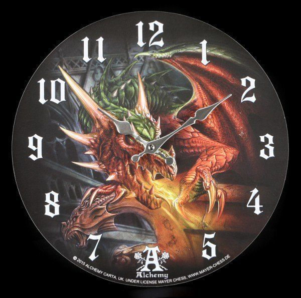 Dragon Clock - Draco Basilika by Alchemy