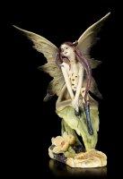 Forrest Fairy Figurine - Suma sitting on Leaf