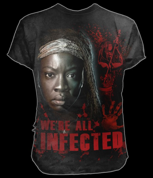 T-Shirt - The Walking Dead - Michonne All Infected