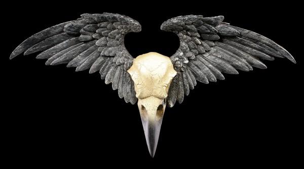 Wall Ornament - Ravenger Raven Skull