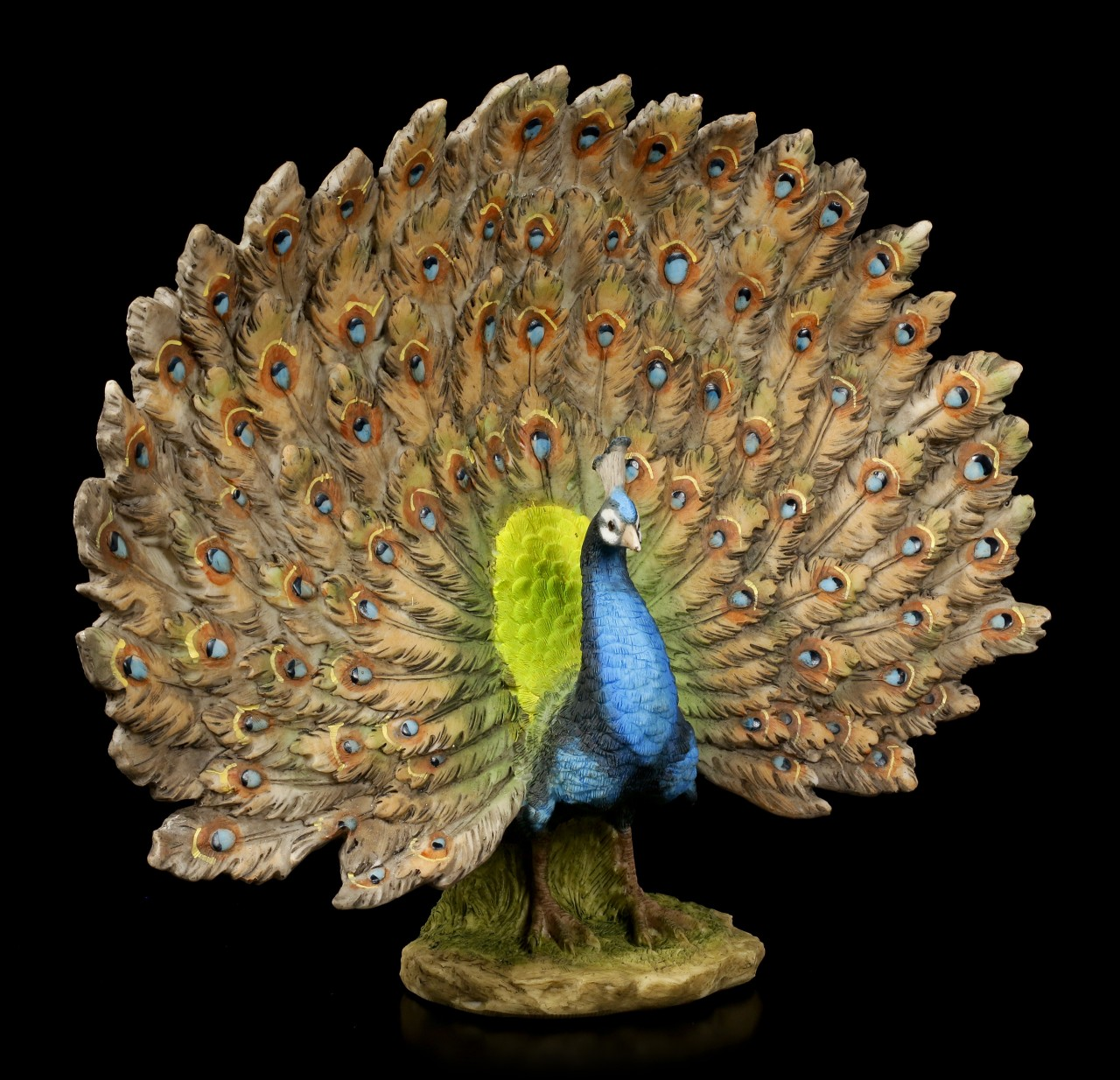 Peacock Figurine with Spreaded Feathers
