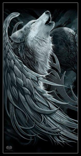 Bath Towel - Wolf Spirit