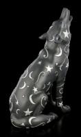 Wolf Figur mit Mond und Sternen - Lupus
