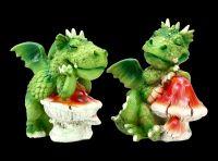 Sweet Dragon Figurine Set of 2 - Midday Nap