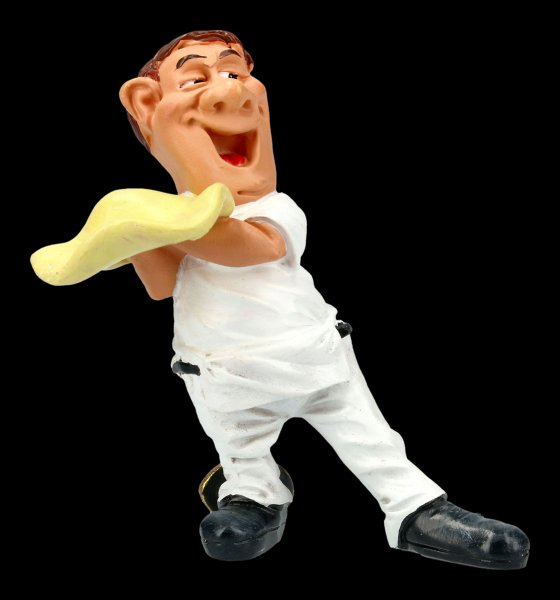Funny Jobs Figur - Pizzabäcker wirbelt den Pizzateig