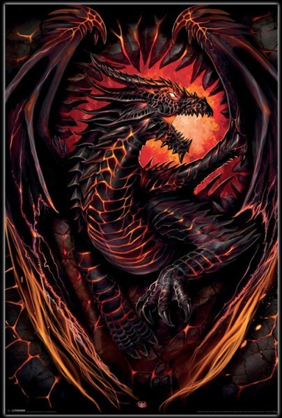 Poster Drache - Dragon Furnace