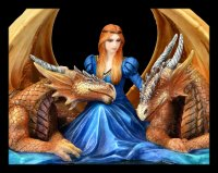 Anne Stokes Figur - Drachen Fierce Loyalty