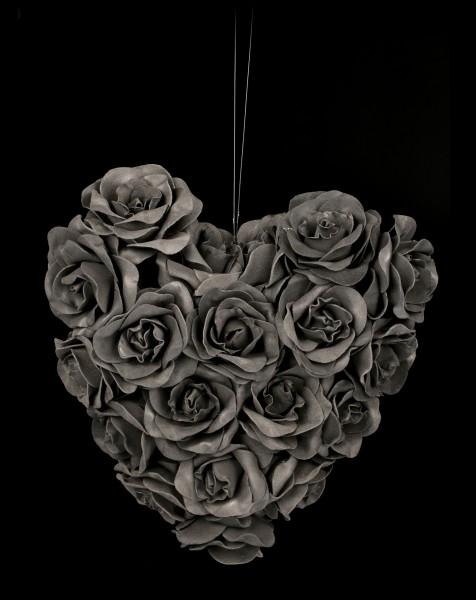 Schwarzes Rosen Herz