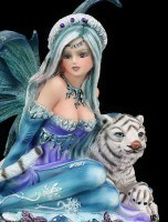 Small Fairy Figure - Sitting with Tiger