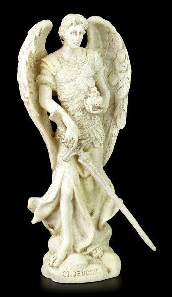 Small Archangel Figurine - Jehudiel - White