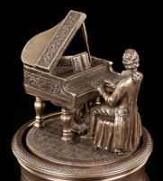 Mozart Figur auf Spieluhr - Die Zauberflöte