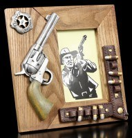 Western Holz Bilderrahmen - Colt