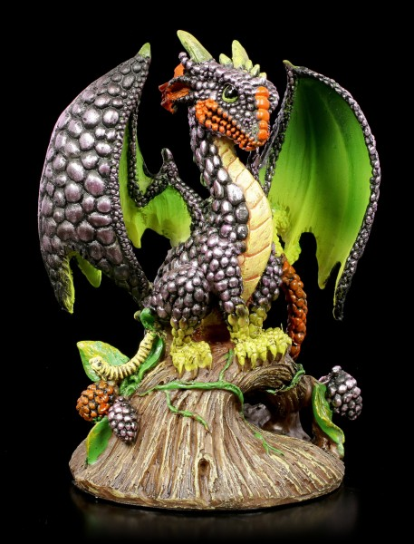 Blackberry Dragon Figurine by Stanley Morrison