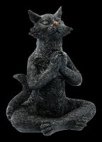 Black Yoga Cat Figurines - Set of 3