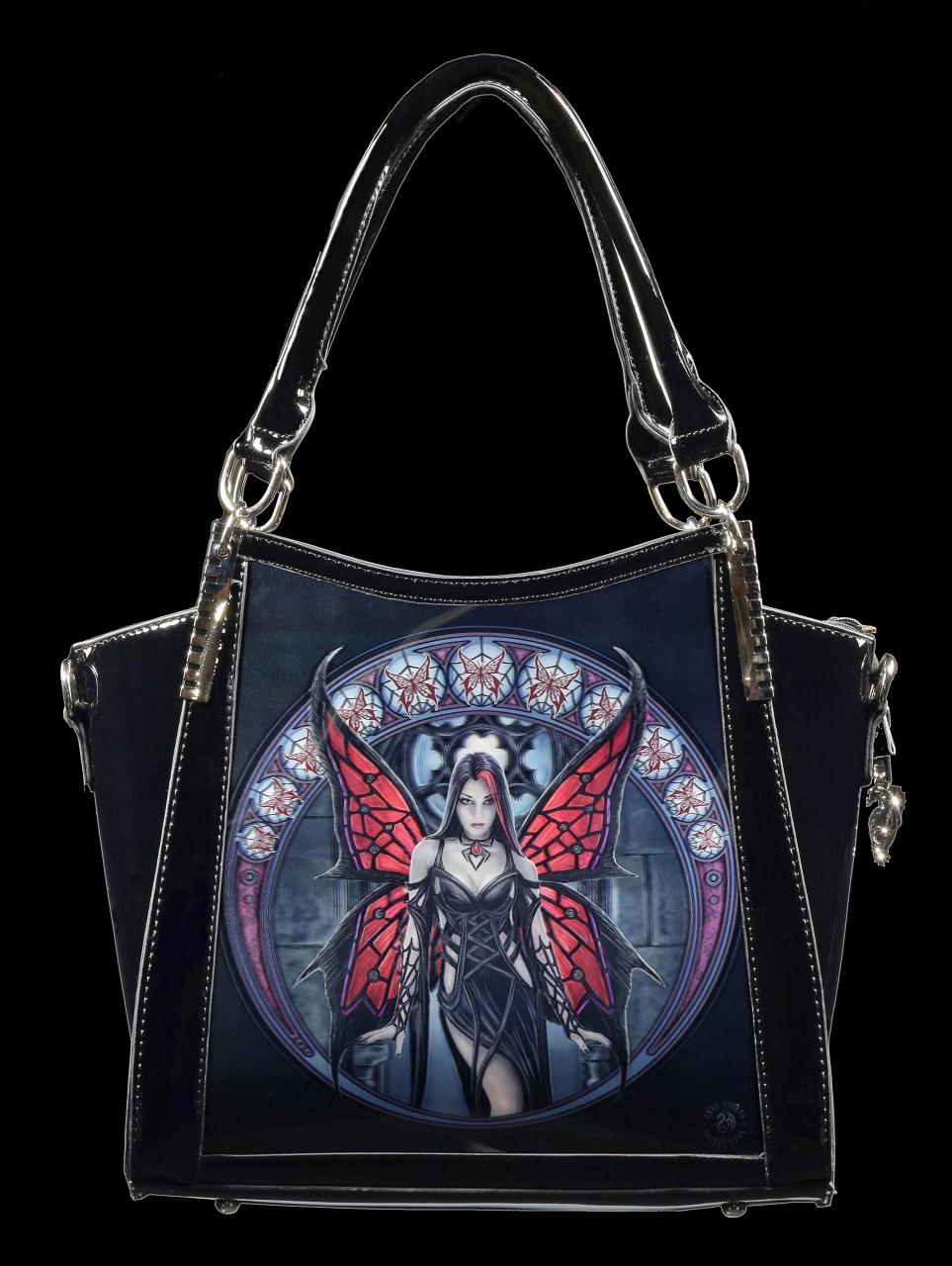 Lack Handtasche mit 3D Motiv - Aracnafaria