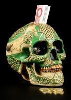 Celtic Skull Money Bank