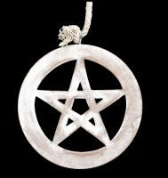 Wall Decoration - White Pentagram