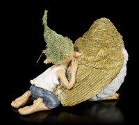 Pixie Goblin Figurine - Sparrow Cuddling